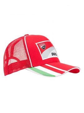 Picture of Ducati Corse cap pet trucker tricolore 1846009