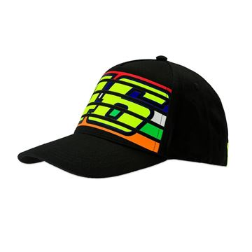 Picture of Valentino Rossi 46 stripes cap black pet VRMCA350204