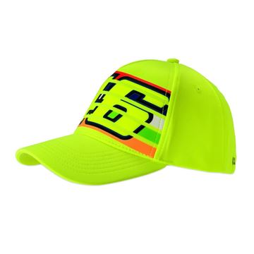 Picture of Valentino Rossi 46 stripes cap fluo yellow pet VRMCA350228