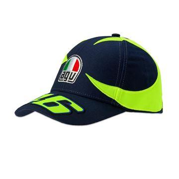 Afbeelding van Valentino Rossi sun and moon helmet replica cap pet VRMCA350702