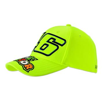 Picture of Valentino Rossi 46 the doctor yellow fluo cap pet VRMCA351428