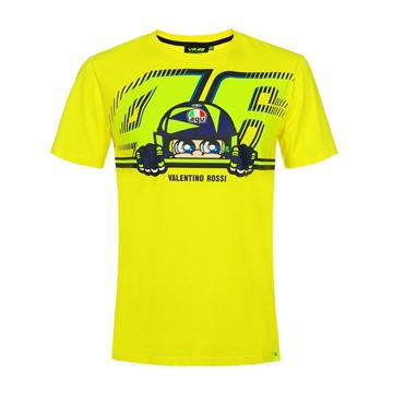 Picture of Valentino Rossi cupolino yellow t-shirt VRMTS350601