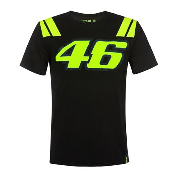 Picture of Valentino Rossi 46 t-shirt black VRMTS351304