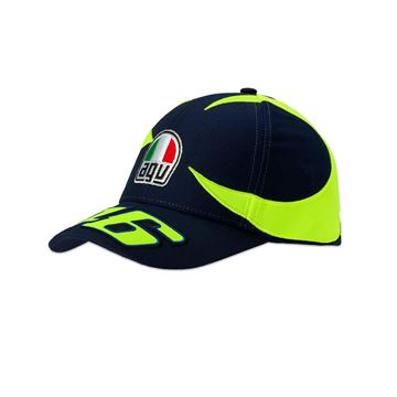 Afbeelding van Valentino Rossi sun and moon helmet replica kid cap pet VRMCA352802