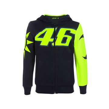Picture of Valentino Rossi sun and moon helmet replica kid hoodie VRKFL353102