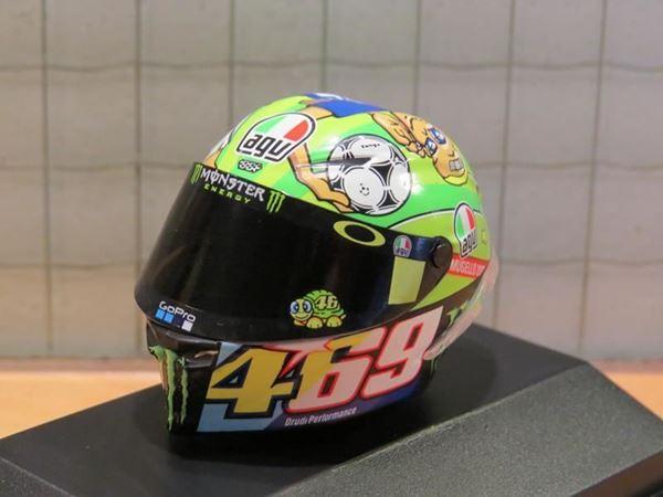 Picture of Valentino Rossi AGV helm 2017 Mugello 1:8 398170086
