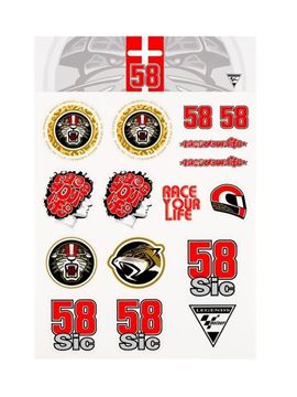 Picture of Marco Simoncelli sticker big 1955002
