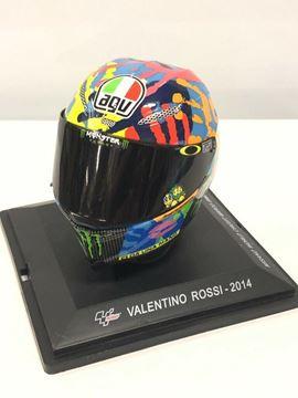 Picture of Valentino Rossi AGV helmet 2014 Misano 1:5