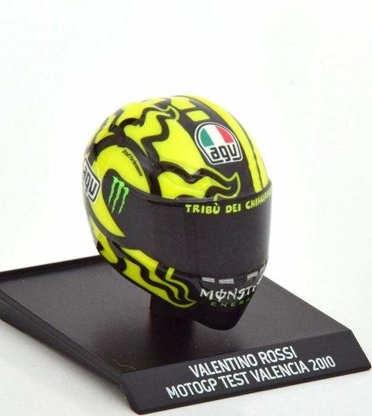Picture of Valentino Rossi  AGV helm 2010 Valencia test 1:10 315100066