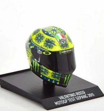 Afbeelding van Valentino Rossi  AGV helm MotoGP Test Sepang 2015 1:10 315150076