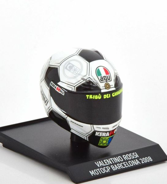 Picture of Valentino Rossi  AGV helm 2008 Barcelona 1:10 315080086