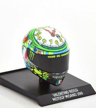 Afbeelding van Valentino Rossi  AGV helm 2010 Misano 1:10 315100056