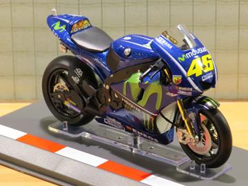 Afbeelding van Valentino Rossi Yamaha YZR-M1 2017 1:18 diecast