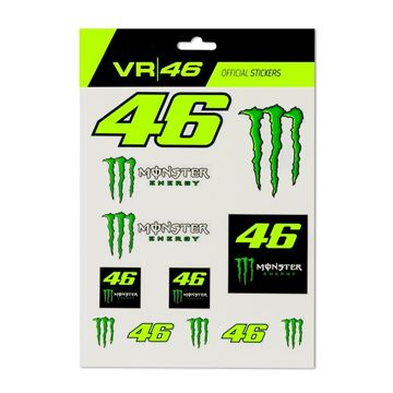 Afbeelding van Valentino Rossi large stickers Monster energy MOUST398603