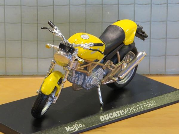 Picture of Ducati Monster 900 yellow 1:18 Maisto los