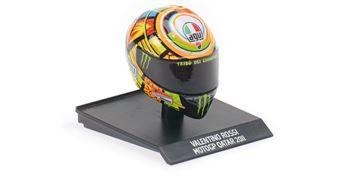 Afbeelding van Valentino Rossi AGV helm 2011 Qatar 1:10 315110056