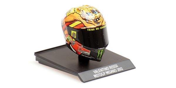 Picture of Valentino Rossi  AGV helm 2012 Misano 1:10 315120096