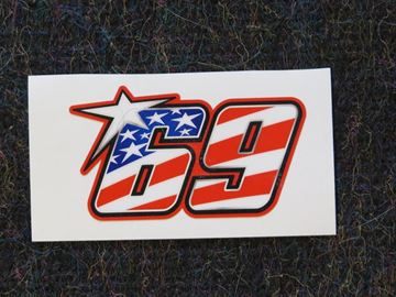 Picture of Nicky Hayden #69 sticker usa