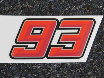 Picture of Marc Marquez #93 sticker 3D red