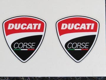 Afbeelding van Ducati corse logo sticker set