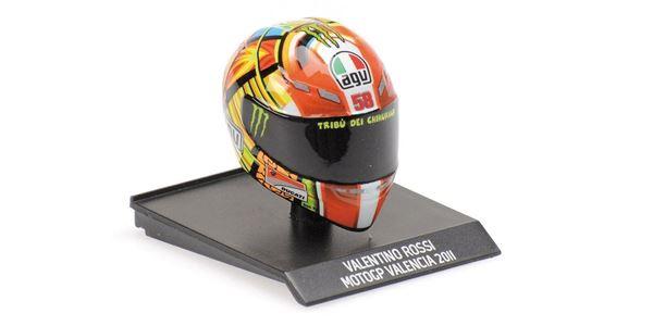 Picture of Valentino Rossi  AGV helm 2011 Valencia 1:10 315110066
