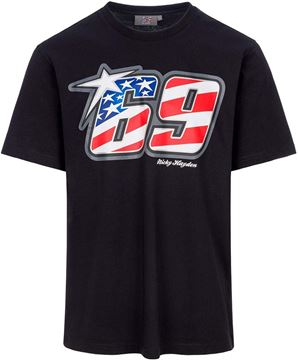 Picture of Nicky Hayden black #69 T-shirt 2034001