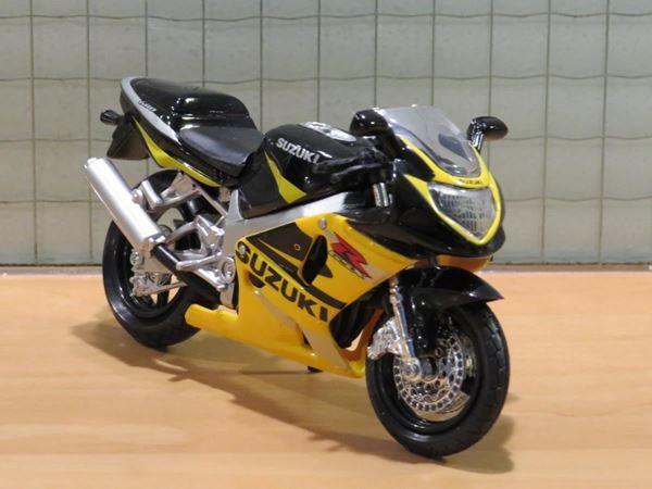 Picture of Suzuki GSX-R750 1:18 zwart/geel los