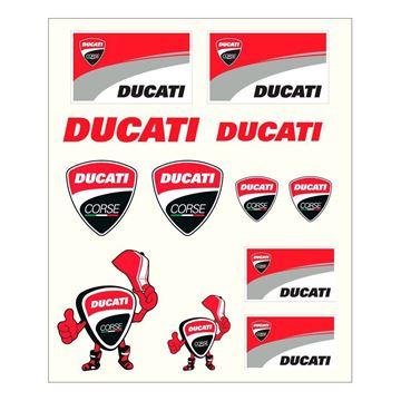 Afbeelding van Ducati racing stickers medium 1756007