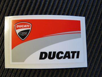 Afbeelding van Ducati corse new vlag sticker