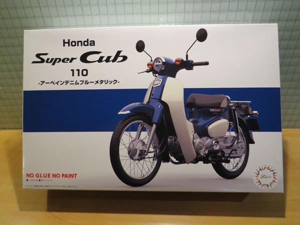 Picture of Bouwdoos Honda Super Cub C110 blue 1:12 Fujimi