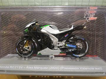 Afbeelding van Alex Marquez Honda RC213V pre season test 2020 1:18 diecast