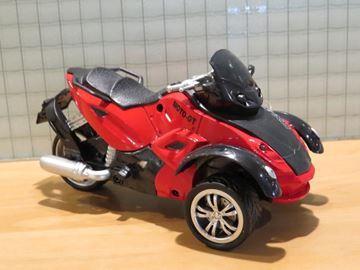Afbeelding van driewieler motor RX-X red